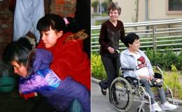 残疾弃婴当妈妈后感谢养母:今生有她无悔