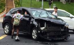 别人都在围观车祸现场 只有12岁的他挺身而出